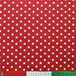 beschichtete Baumwolle Dots rot weiss