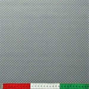 beschichtete Baumwolle Mini-Dots grau weiss