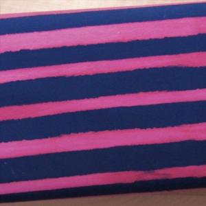 Bio-Jersey verschwommene Streifen blau pink