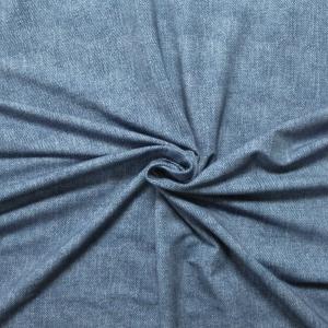 Sommersweat mittelgrobe Jeansoptik blau