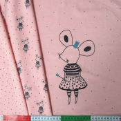 Sommersweat Sweetest Mouse rosa meliert Rapport